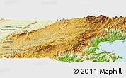 Physical Panoramic Map of Aparecida