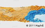 Political Panoramic Map of Aparecida