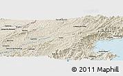 Shaded Relief Panoramic Map of Aparecida