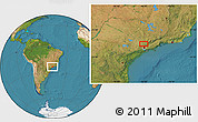 "Satellite Location Map of the area around 23°3'19""S,46°40'29""W"