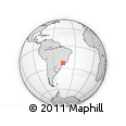 """Outline Map of the Area around 23° 3' 19"""" S, 46° 40' 29"""" W, rectangular outline"""
