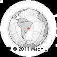 Outline Map of Piracaia, rectangular outline