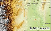 Physical Map of San Ramón de la Nueva Orán