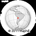 Outline Map of Rosario, rectangular outline