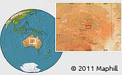 Satellite Location Map of Alice Springs