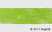 "Physical Panoramic Map of the area around 23° 33' 11"" S, 149° 40' 30"" E"