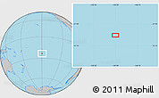 """Gray Location Map of the area around 23°33'11""""S,149°31'30""""W"""