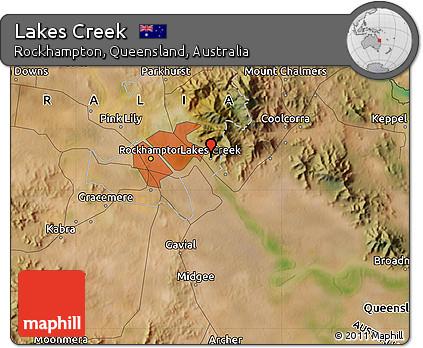 Free Satellite Map of Lakes Creek
