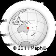"Outline Map of the Area around 23° 33' 11"" S, 151° 22' 30"" E, rectangular outline"