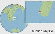 Savanna Style Location Map of Toliara