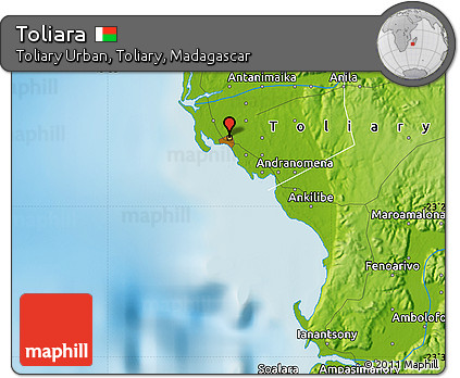 Free Physical Map of Toliara