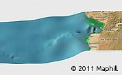 Satellite Panoramic Map of Toliara