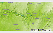 """Physical 3D Map of the area around 23°33'11""""S,44°16'29""""E"""