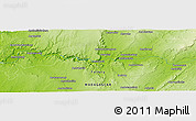 """Physical Panoramic Map of the area around 23°33'11""""S,44°16'29""""E"""