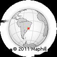 Outline Map of Ubatuba, rectangular outline