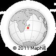 Outline Map of Befamata, rectangular outline