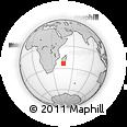 Outline Map of Ambinanytelo, rectangular outline