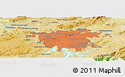 """Physical Panoramic Map of the area around 23°33'11""""S,46°40'29""""W"""