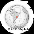 Outline Map of Sorocaba, rectangular outline