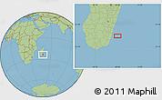 "Savanna Style Location Map of the area around 23°33'11""S,48°31'29""E"