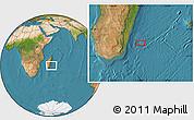 "Satellite Location Map of the area around 23°33'11""S,49°22'30""E"