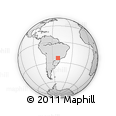 Outline Map of Maringá, rectangular outline