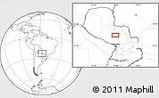 Blank Location Map of Concepción