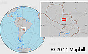 Gray Location Map of Concepción