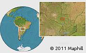 Satellite Location Map of Concepción