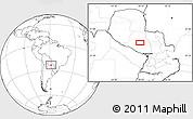Blank Location Map of Pozo Colorado