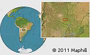 Satellite Location Map of Pozo Colorado