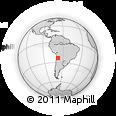 Outline Map of Lascar, rectangular outline