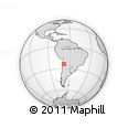 """Outline Map of the Area around 23° 33' 11"""" S, 68° 46' 30"""" W, rectangular outline"""