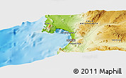 """Physical Panoramic Map of the area around 23°33'11""""S,70°28'29""""W"""