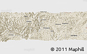 Shaded Relief Panoramic Map of Fuliangpeng