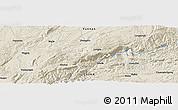 Shaded Relief Panoramic Map of Miyang