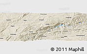 Shaded Relief Panoramic Map of Zhongshu