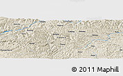Shaded Relief Panoramic Map of Wuluohe