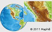 Physical Location Map of Juan Aldama