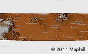 Physical Panoramic Map of Juan Aldama