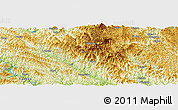 Physical Panoramic Map of Yuhong