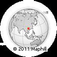 Outline Map of Jinya, rectangular outline