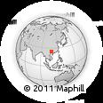 Outline Map of Wuxu, rectangular outline