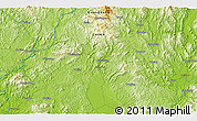 """Physical 3D Map of the area around 24°22'49""""N,115°40'30""""E"""