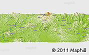 """Physical Panoramic Map of the area around 24°22'49""""N,115°40'30""""E"""
