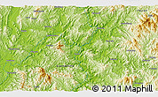 """Physical 3D Map of the area around 24°22'49""""N,116°31'30""""E"""