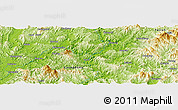 """Physical Panoramic Map of the area around 24°22'49""""N,116°31'30""""E"""