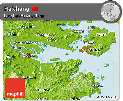 Free Physical D Map Of Haicheng - Haicheng map