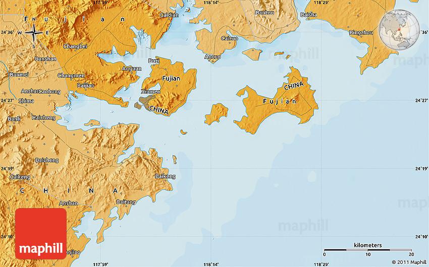Political Map Of Haicheng - Haicheng map