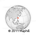Outline Map of Yonaguni Monument, rectangular outline